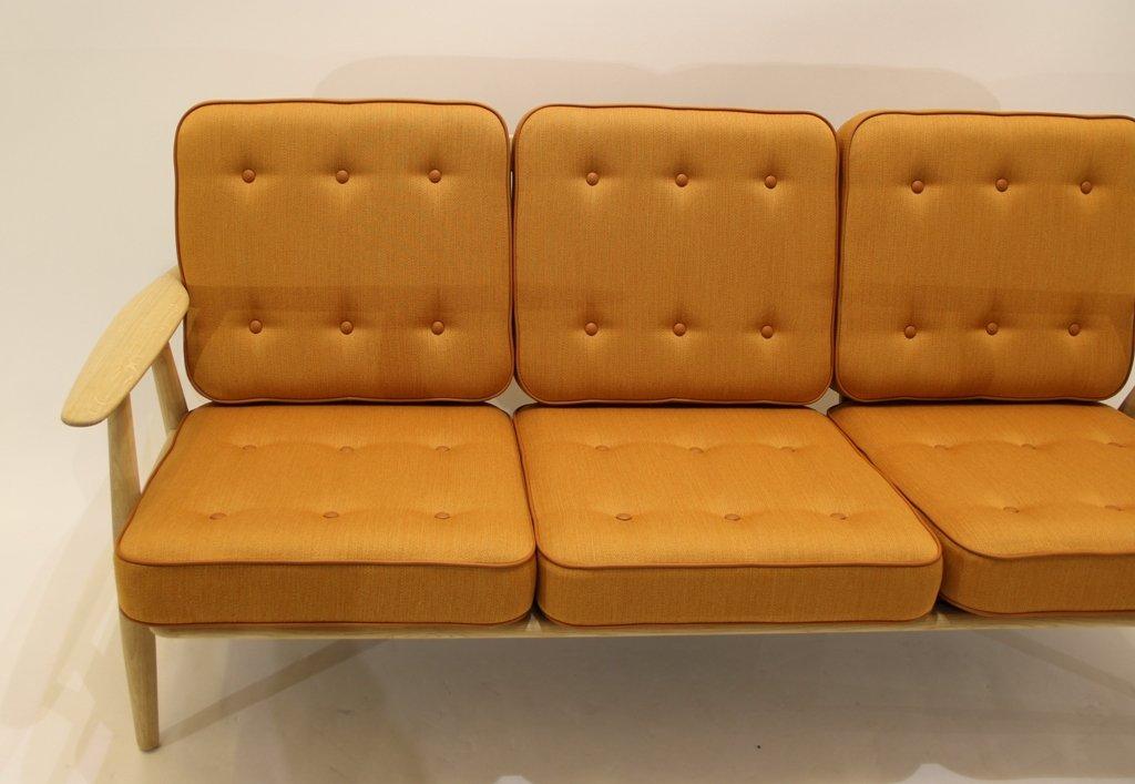ge240 3 sofa von hans j wegner sofa f r getama 1950er bei. Black Bedroom Furniture Sets. Home Design Ideas
