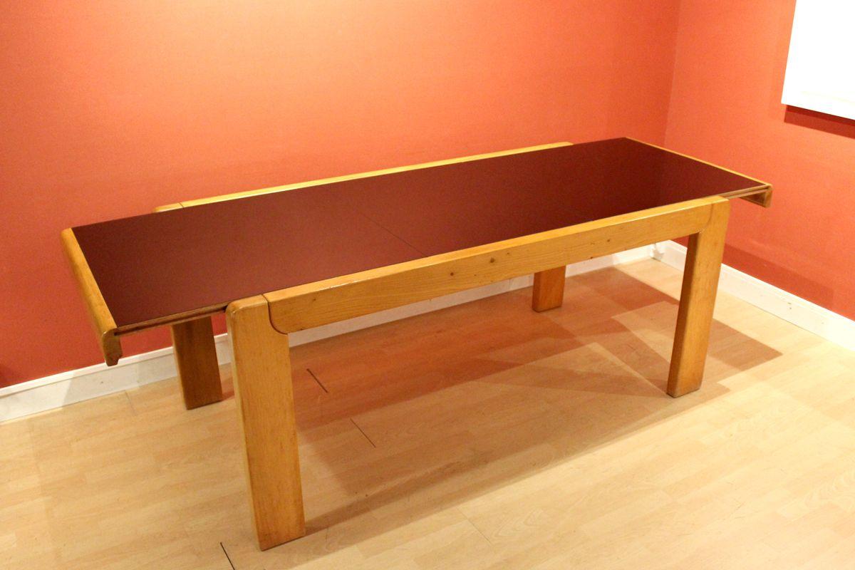 vintage esstisch aus massivem ulmenholz bei pamono kaufen. Black Bedroom Furniture Sets. Home Design Ideas