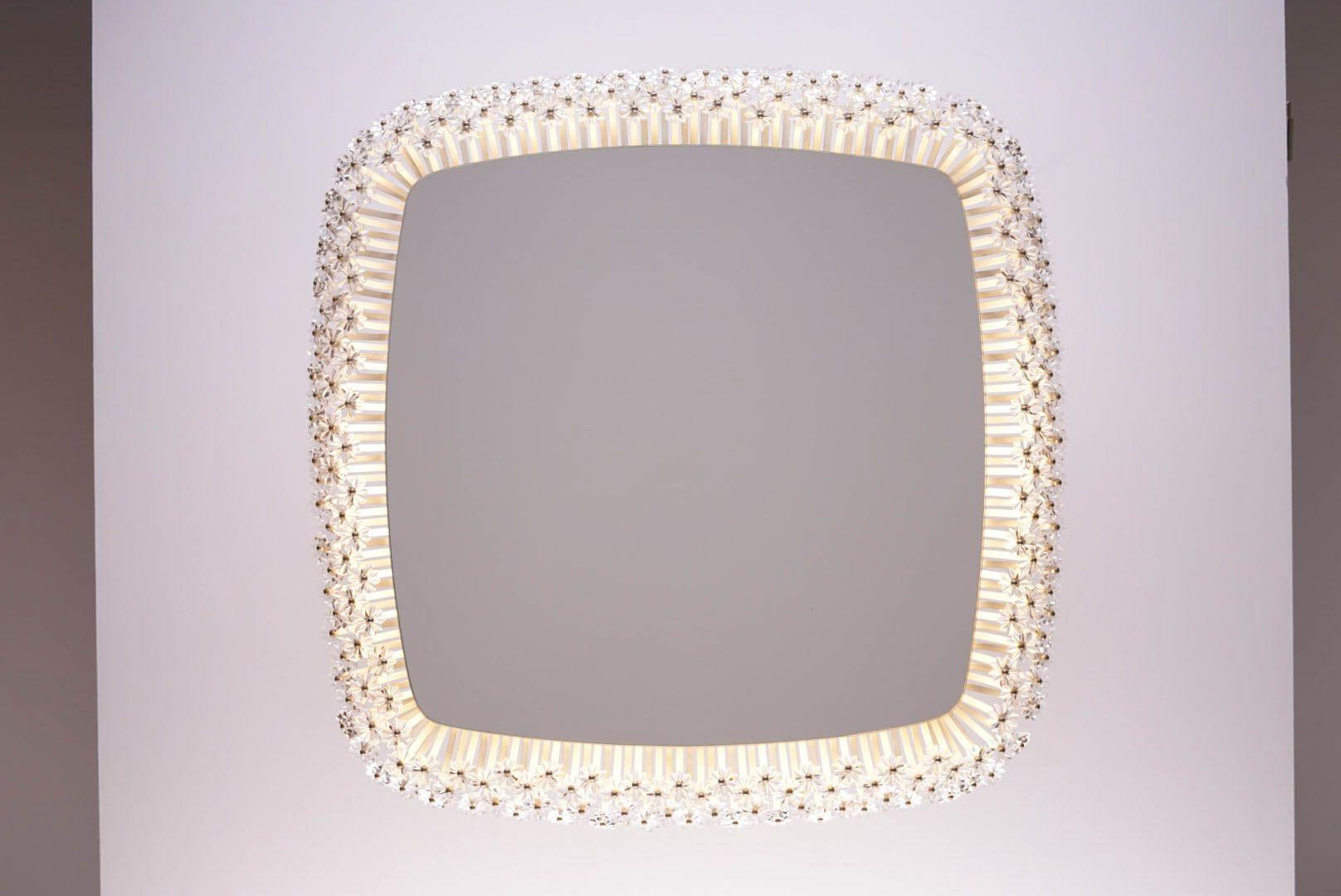 Grand miroir mid century lumineux par emil stejnar pour for Grand miroir 2 metres