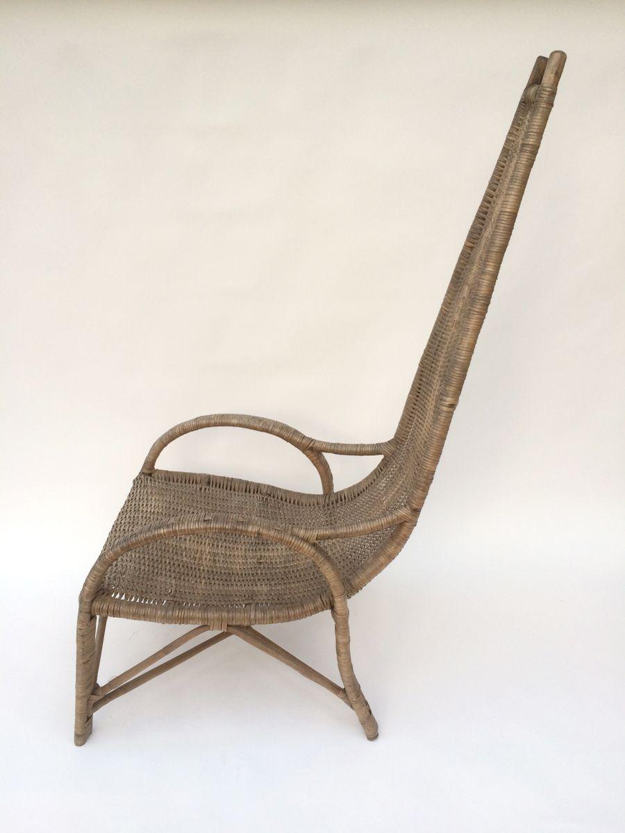 hohe st hle aus rattan 1960er 2er set bei pamono kaufen. Black Bedroom Furniture Sets. Home Design Ideas