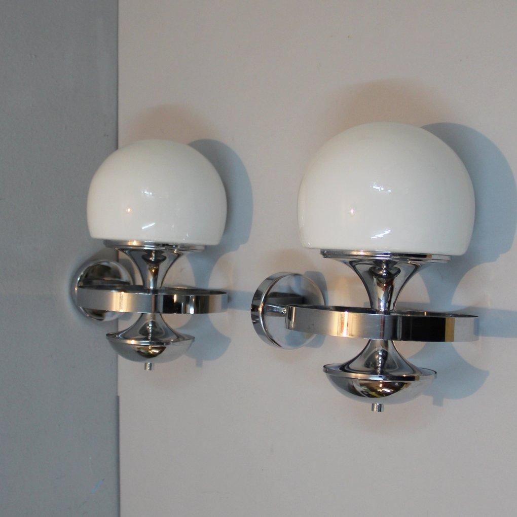 Lampade da parete anni 39 70 set di 2 in vendita su pamono - Lampade da parete di design ...