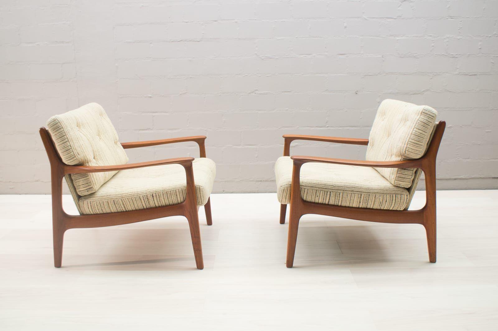 skandinavisches vintage teak sofa mit 3 sesseln bei pamono kaufen. Black Bedroom Furniture Sets. Home Design Ideas