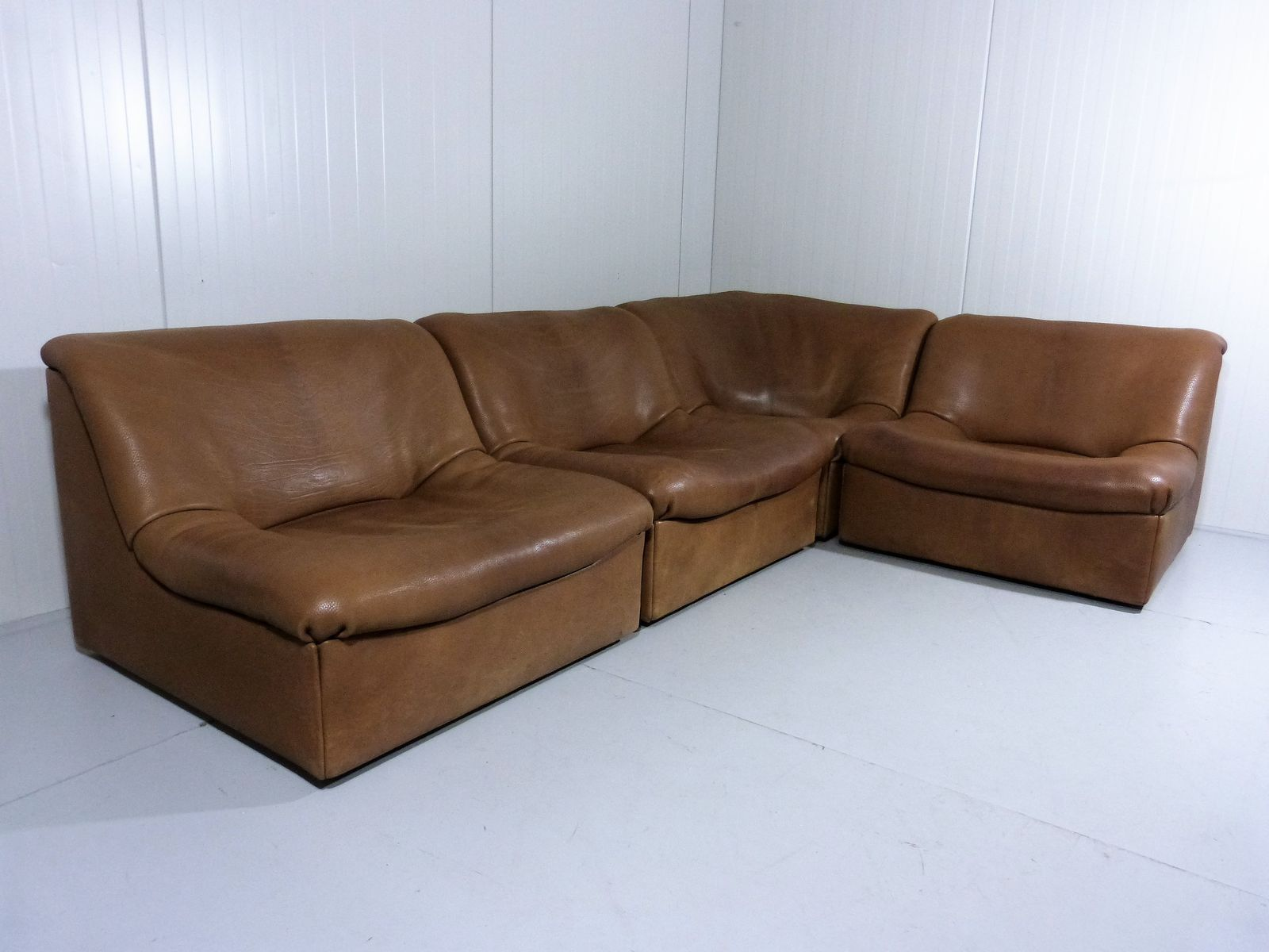 Ds 46 Buffalo Leather Modular Sofa From De Sede 1970s For Sale At Pamono