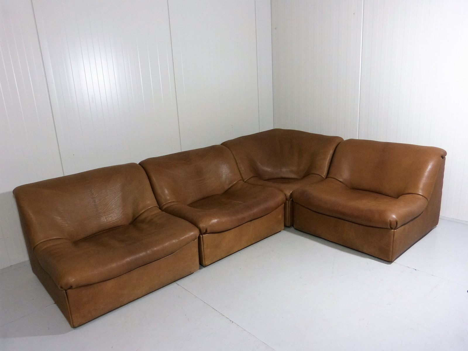 ds 46 buffalo leather modular sofa from de sede 1970s for. Black Bedroom Furniture Sets. Home Design Ideas
