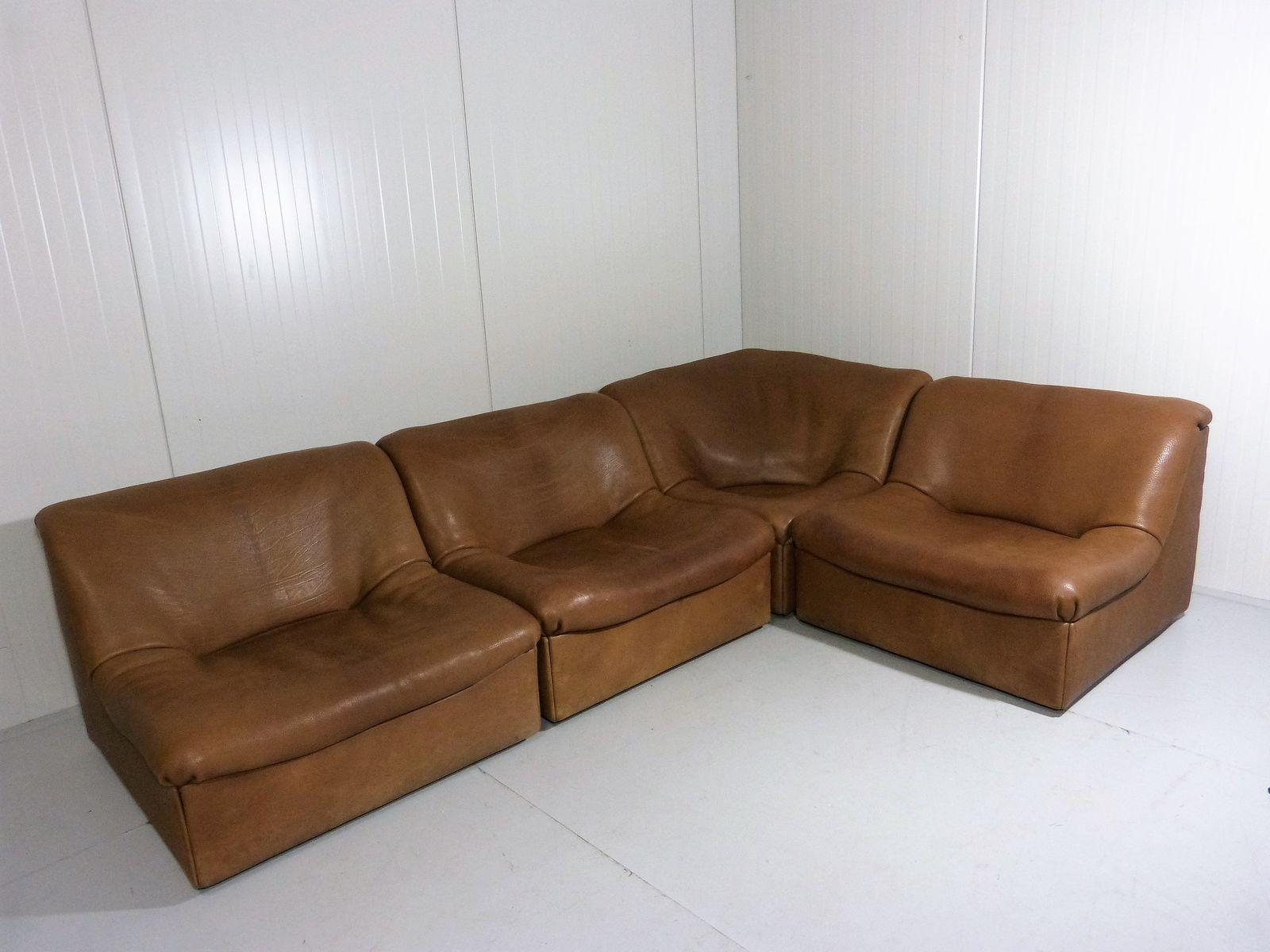 modulares ds 46 sofa aus b ffelleder von de sede 1970er. Black Bedroom Furniture Sets. Home Design Ideas
