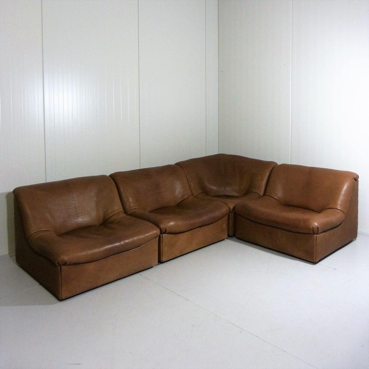 modulares ds 46 sofa aus b ffelleder von de sede 1970er bei pamono kaufen. Black Bedroom Furniture Sets. Home Design Ideas