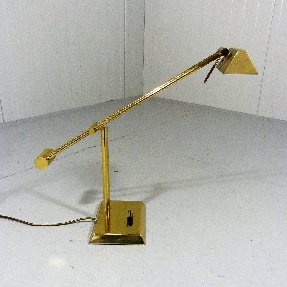 Deutsche Schreibtischlampe aus Messing von Hillebrand, 1970er bei Pamono kaufen