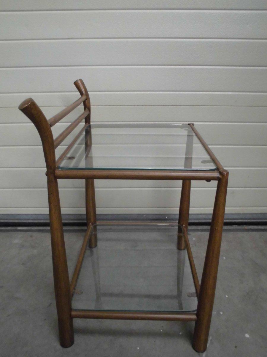 Beistelltisch aus metall glas 1970er bei pamono kaufen for Beistelltisch aus metall