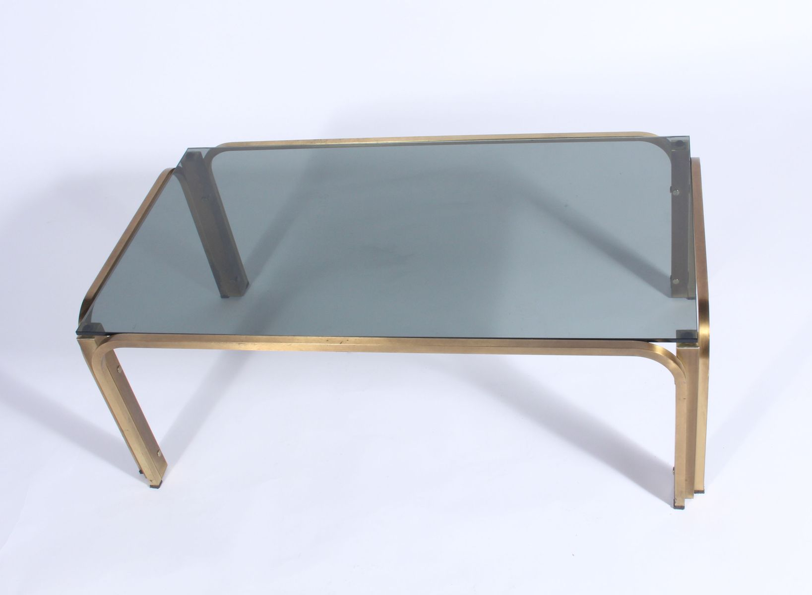 Vintage Gilt Metal Coffee Table For Sale At Pamono