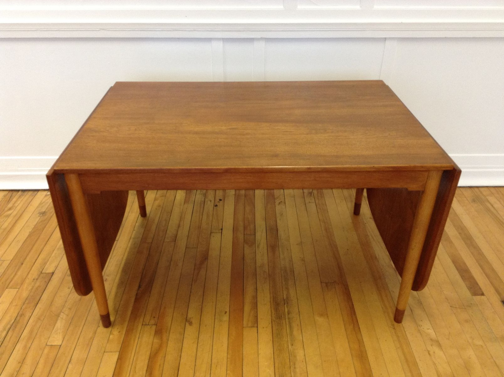 Mid Century Danish Teak and Beech Extending Dining Table by B¸rge