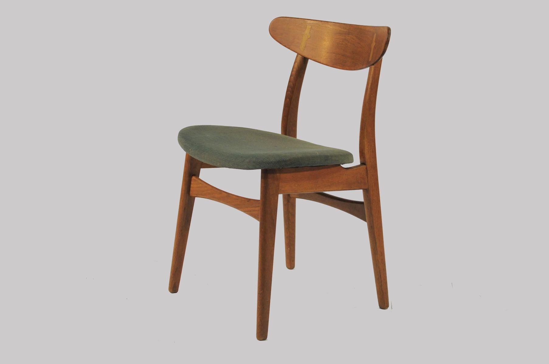 ch30 esszimmerst hle aus eiche von hans j wegner f r carl. Black Bedroom Furniture Sets. Home Design Ideas