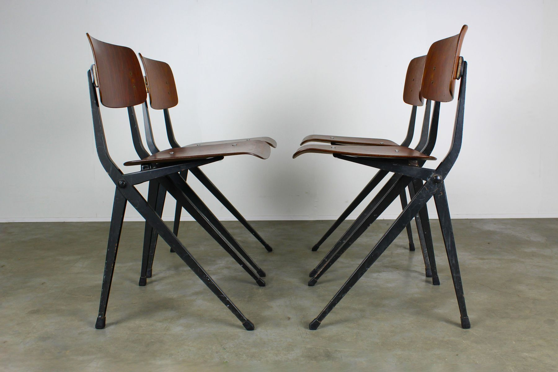 price per set. midcentury industrial dining chairs from marko set of  for sale