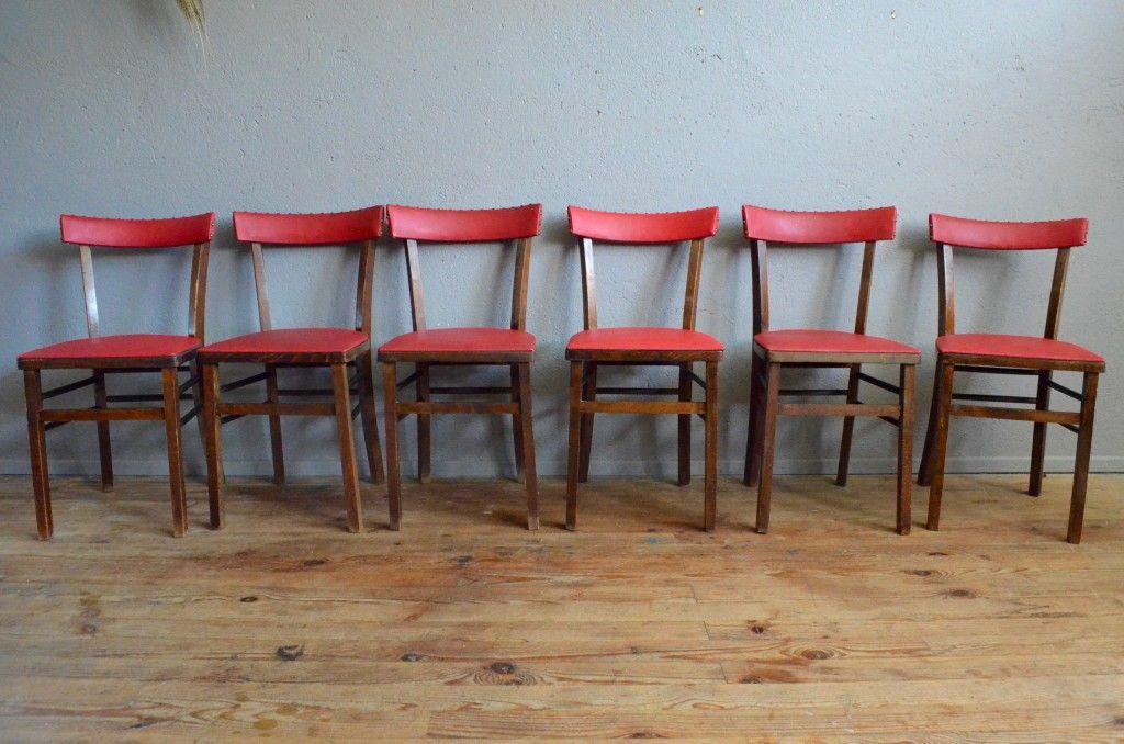franz sische vintage bistro st hle 6er set bei pamono kaufen. Black Bedroom Furniture Sets. Home Design Ideas