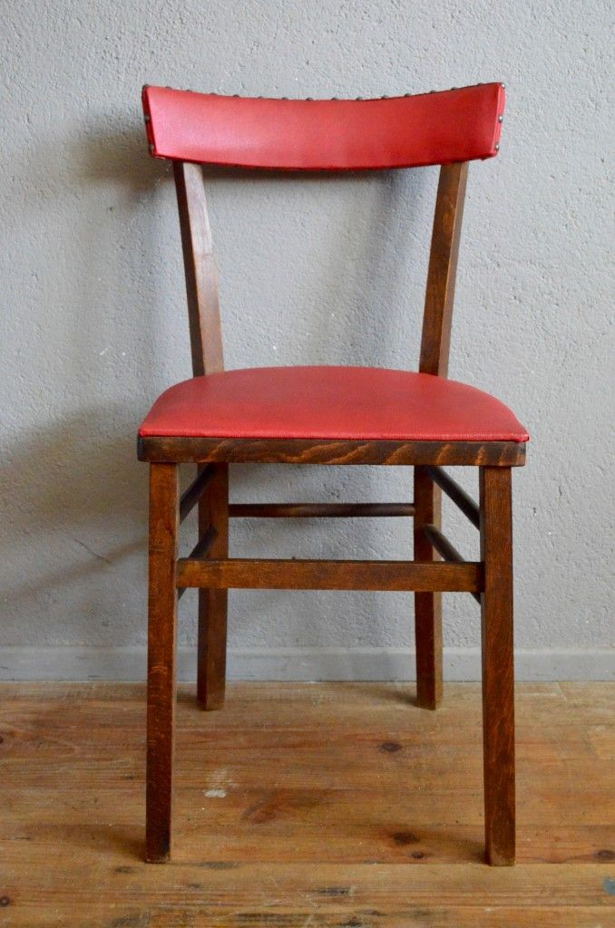 Vintage French Bistro Chairs, Set Of 6