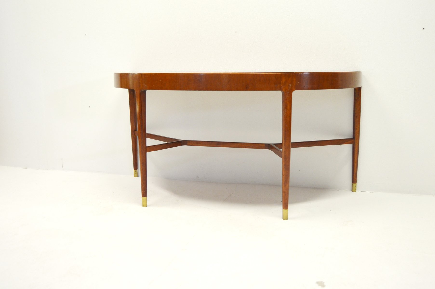 Mahogany console table with brass fittings 1950s for sale at pamono mahogany console table with brass fittings 1950s geotapseo Gallery