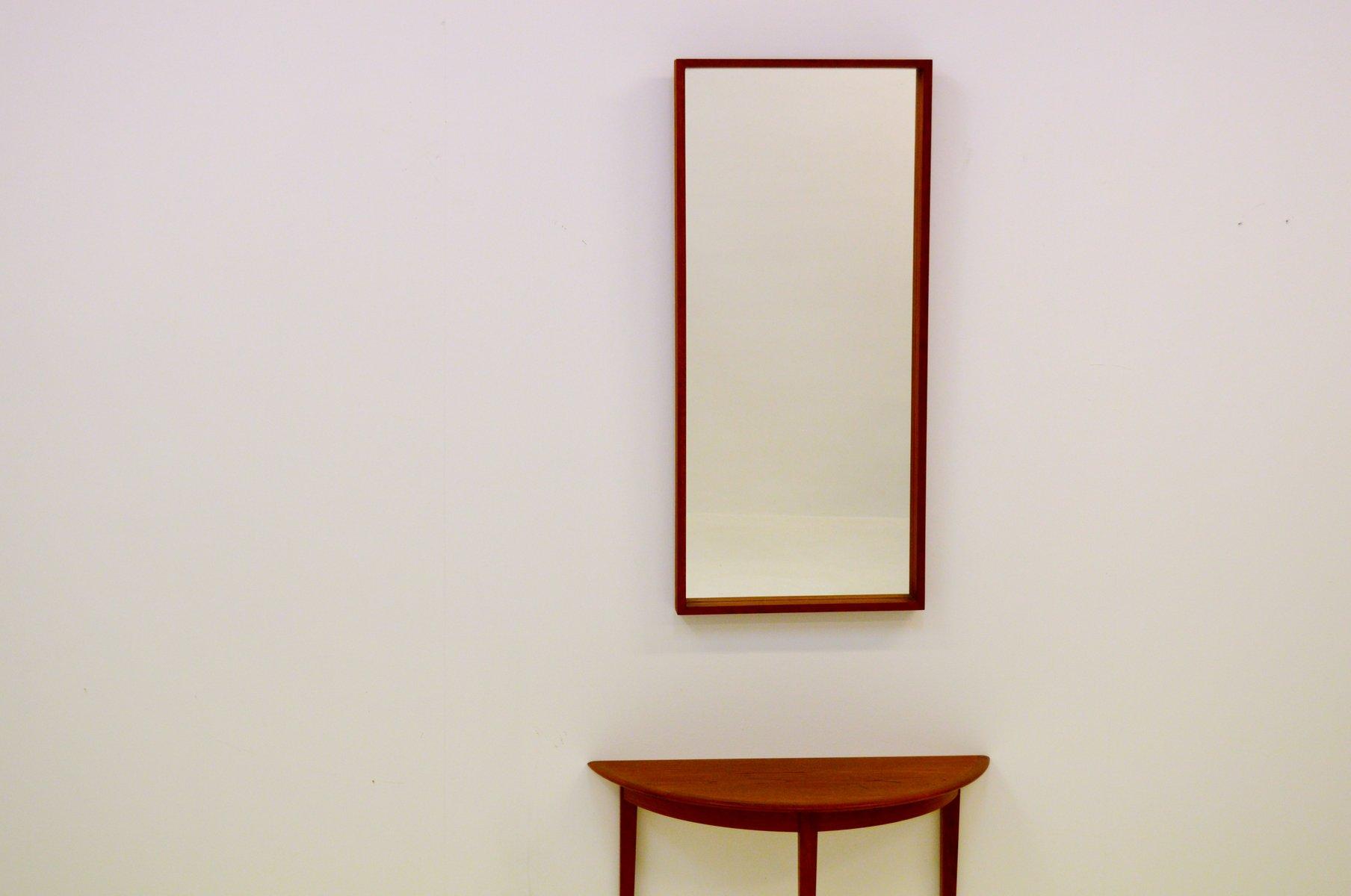 Halbmond teak tisch und spiegel von glas tr 1960er bei for Spiegel glas