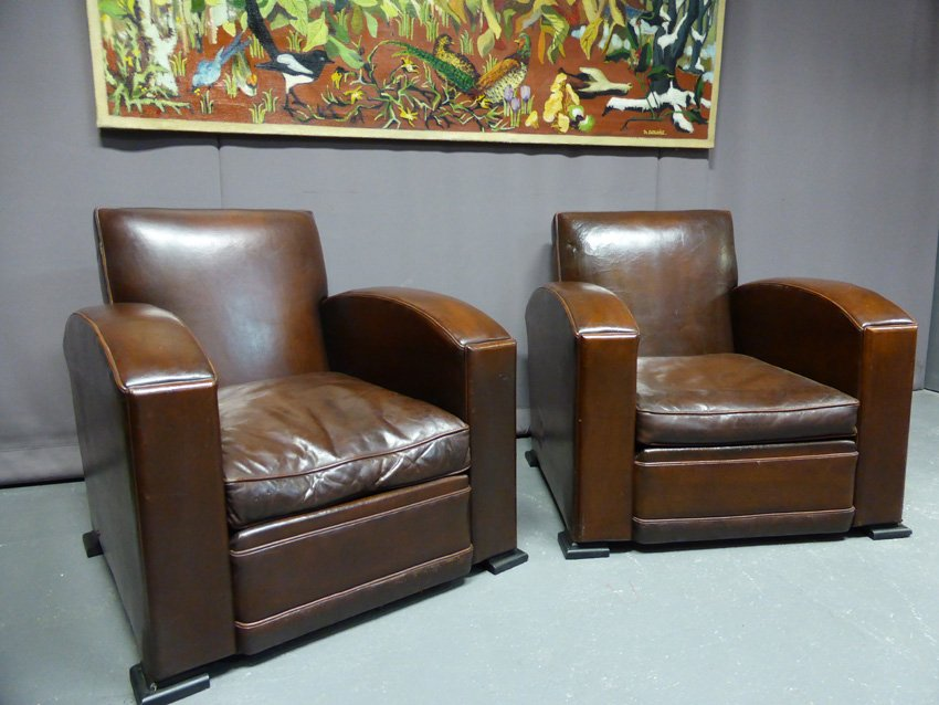 Vintage Club Chairs, Set Of 2
