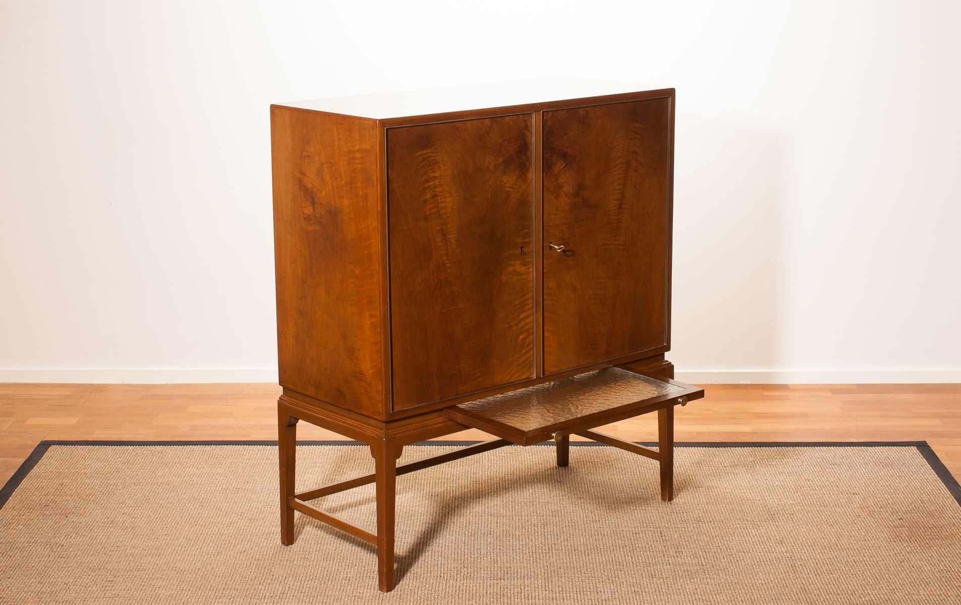Burl wood cabinet from boet 1950s for sale at pamono for Burl wood kitchen cabinets