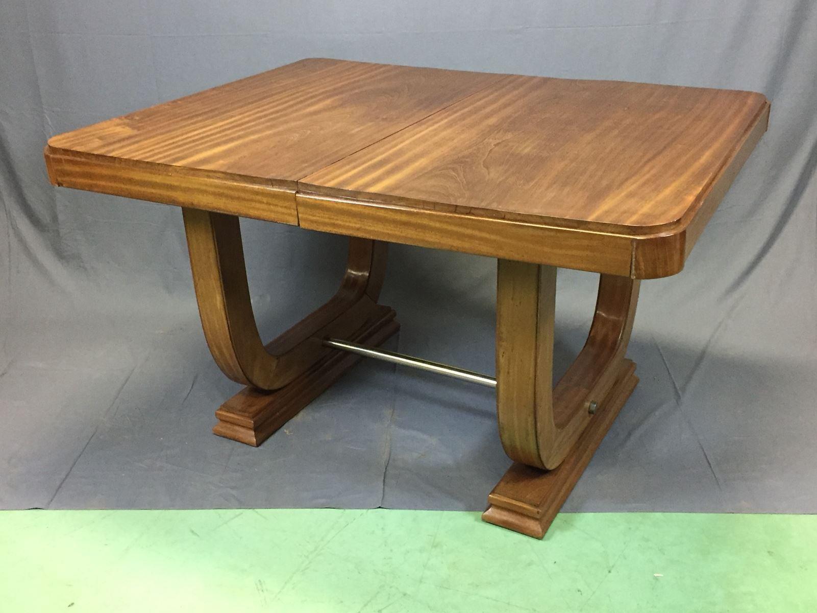 Art Deco Mahogany Table 1930s for sale at Pamono
