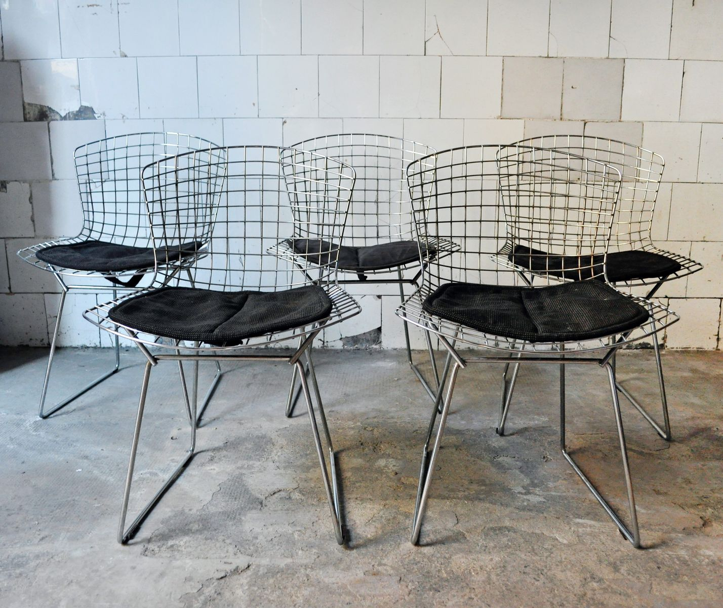 st hle von harry bertoia f r knoll international 1950er 5er set bei pamono kaufen. Black Bedroom Furniture Sets. Home Design Ideas