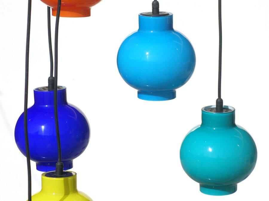 italienische deckenlampe aus farbigem glas 1950er bei. Black Bedroom Furniture Sets. Home Design Ideas