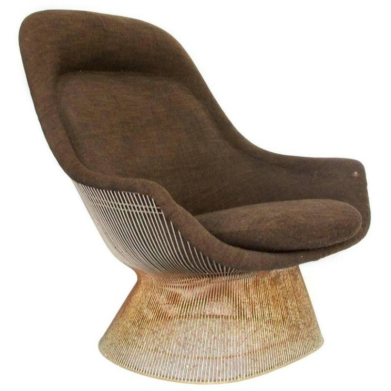 High Back Lounge Chair by Warren Platner for Knoll Inc 1960s for