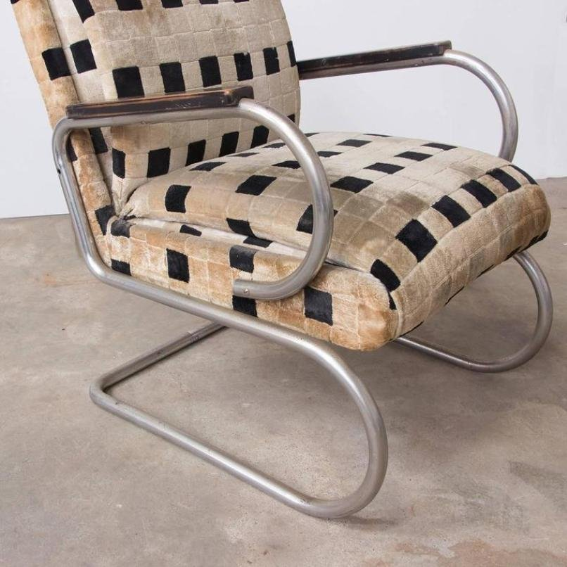 Vintage french art deco lounge chair 1930s for sale at pamono for Vintage parisian lounge
