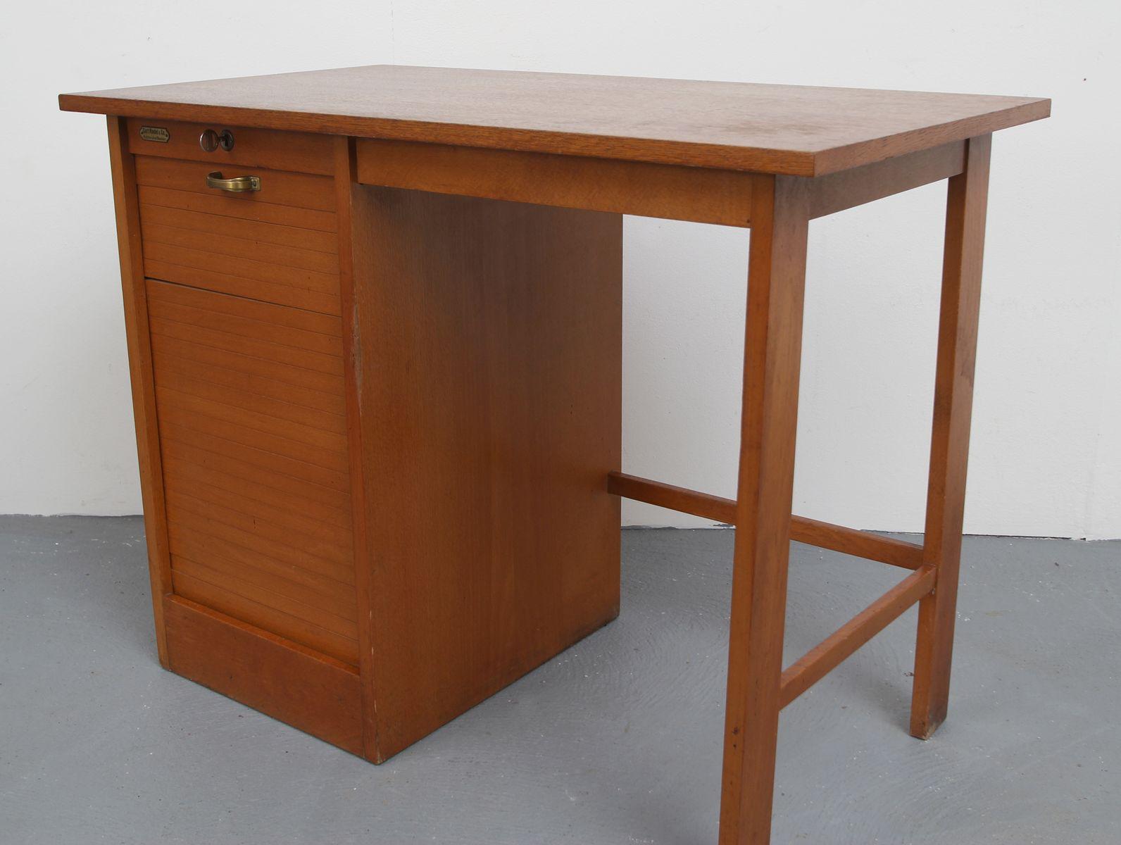 Nice Vintage Oak Writing Desk By Curt Riedel