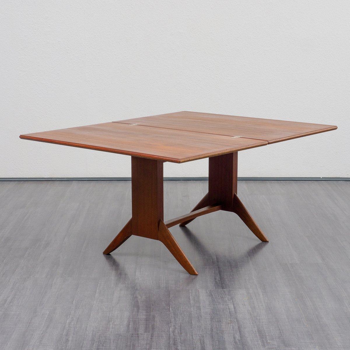 teak couchtisch oder esstisch von wilhelm renz 1950er bei pamono kaufen. Black Bedroom Furniture Sets. Home Design Ideas