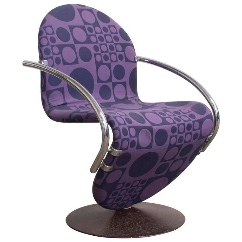 lila sessel von verner panton f r rosenthal 1970er bei. Black Bedroom Furniture Sets. Home Design Ideas