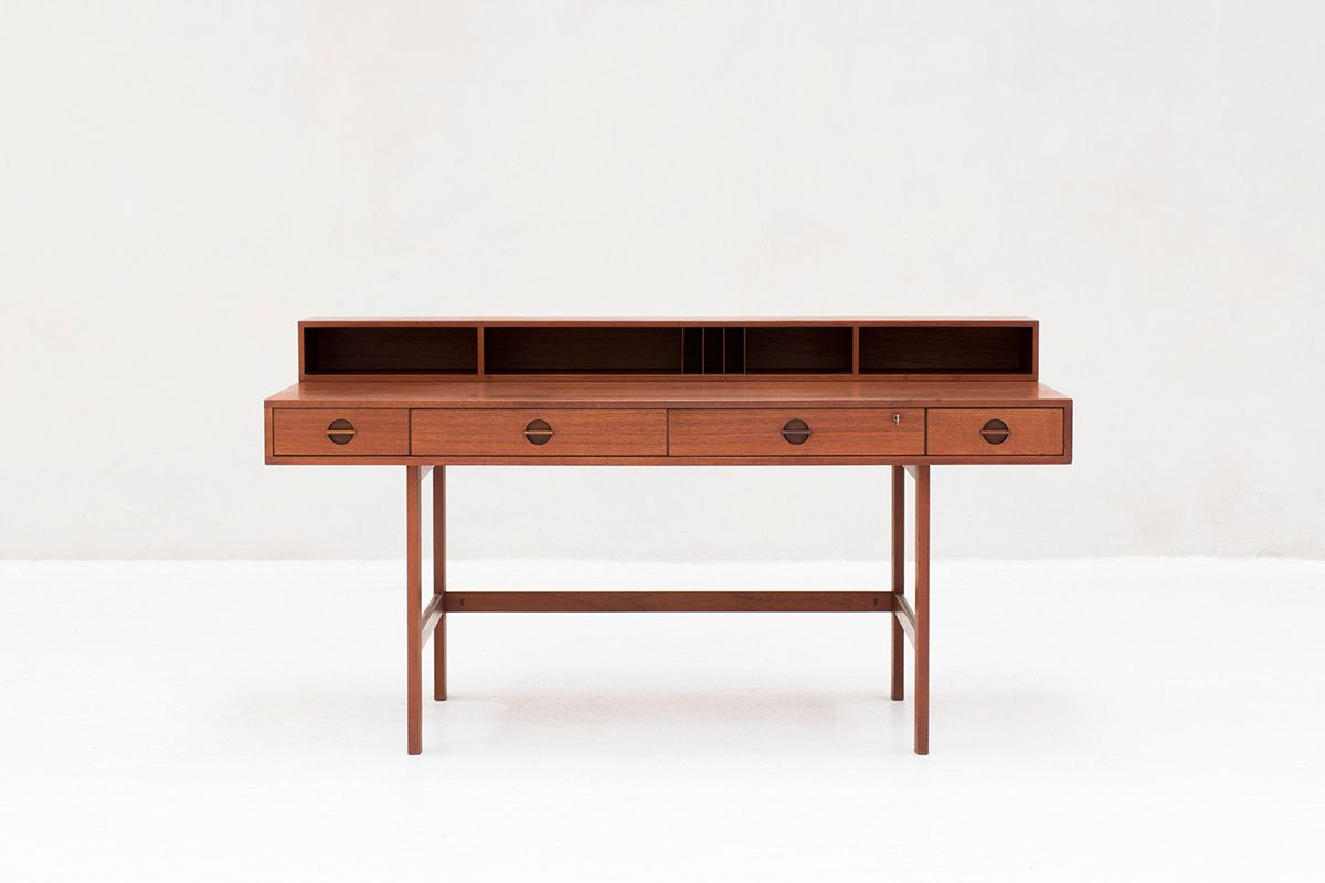 Mid Century Desk By Jens Quistgaard For Peter Løvig Nielsen 1960s