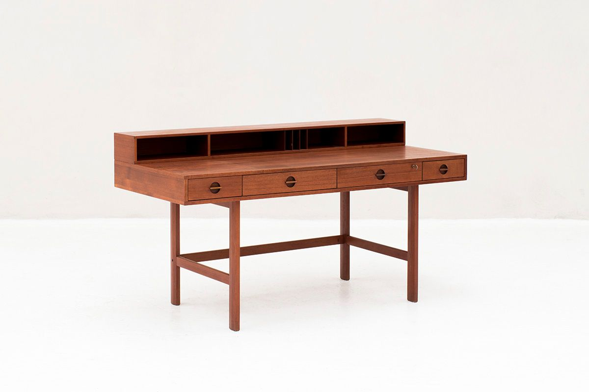 Mid Century Desk By Jens Quistgaard For Peter L 248 Vig