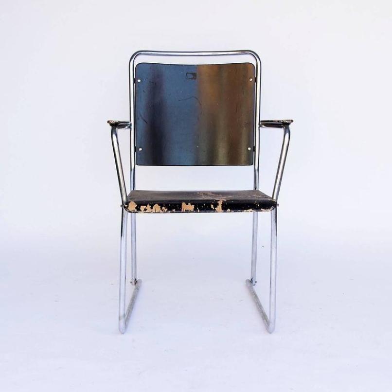Vintage stahlrohr stuhl 1930er bei pamono kaufen for Stuhl stahlrohr