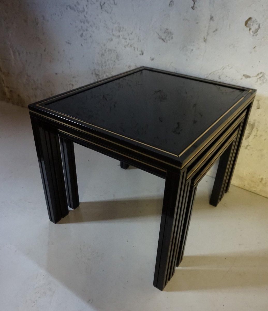 satztische von pierre vandel 1970er bei pamono kaufen. Black Bedroom Furniture Sets. Home Design Ideas