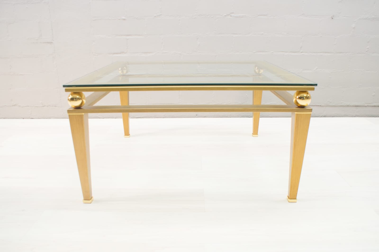 Large Hollywood Regency Brass Gilt Coffee Table 1960s For Sale At Pamono