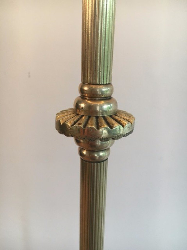 brass floor lamp vintage
