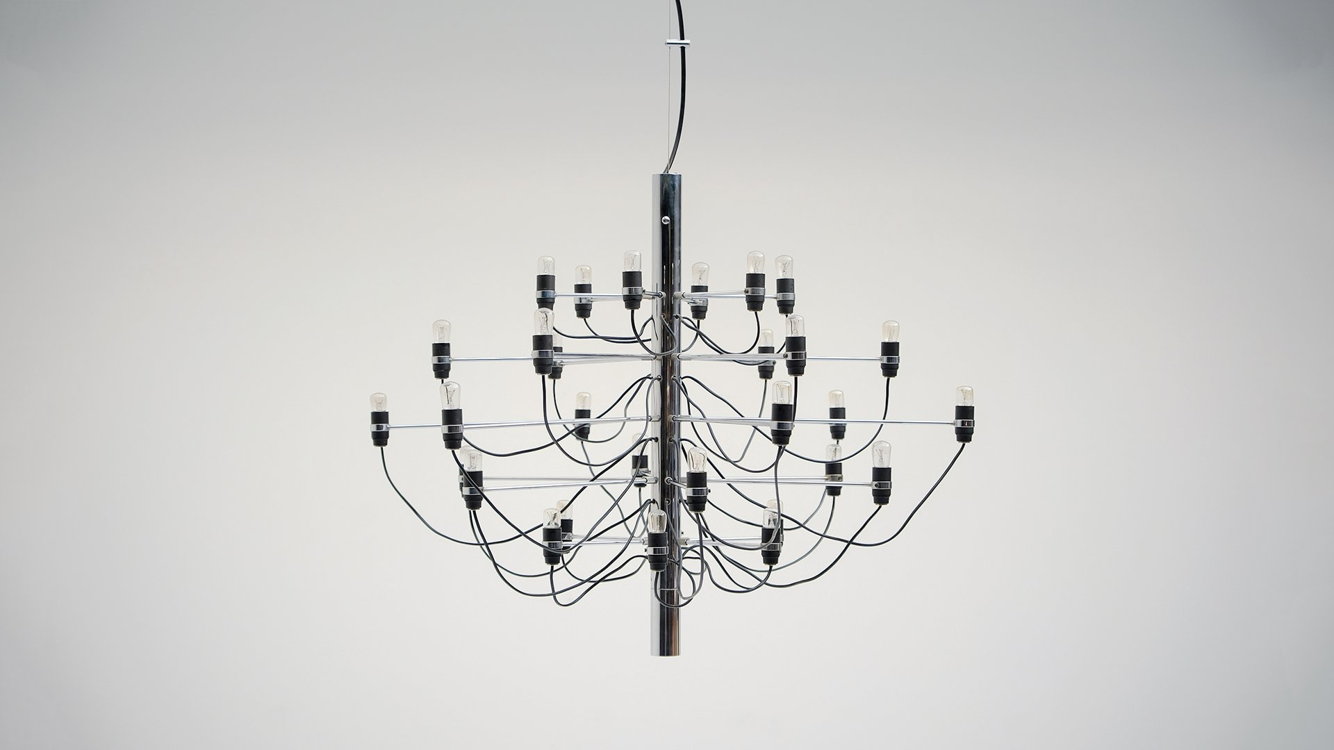 Vintage Chandelier by Gino Sarfatti for Arteluce for sale at Pamono