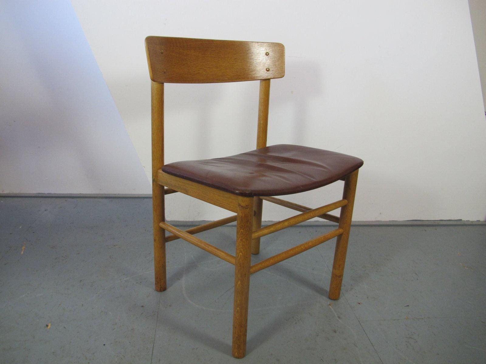 vintage j39 shaker stuhl von borge mogensen f r fredericia. Black Bedroom Furniture Sets. Home Design Ideas