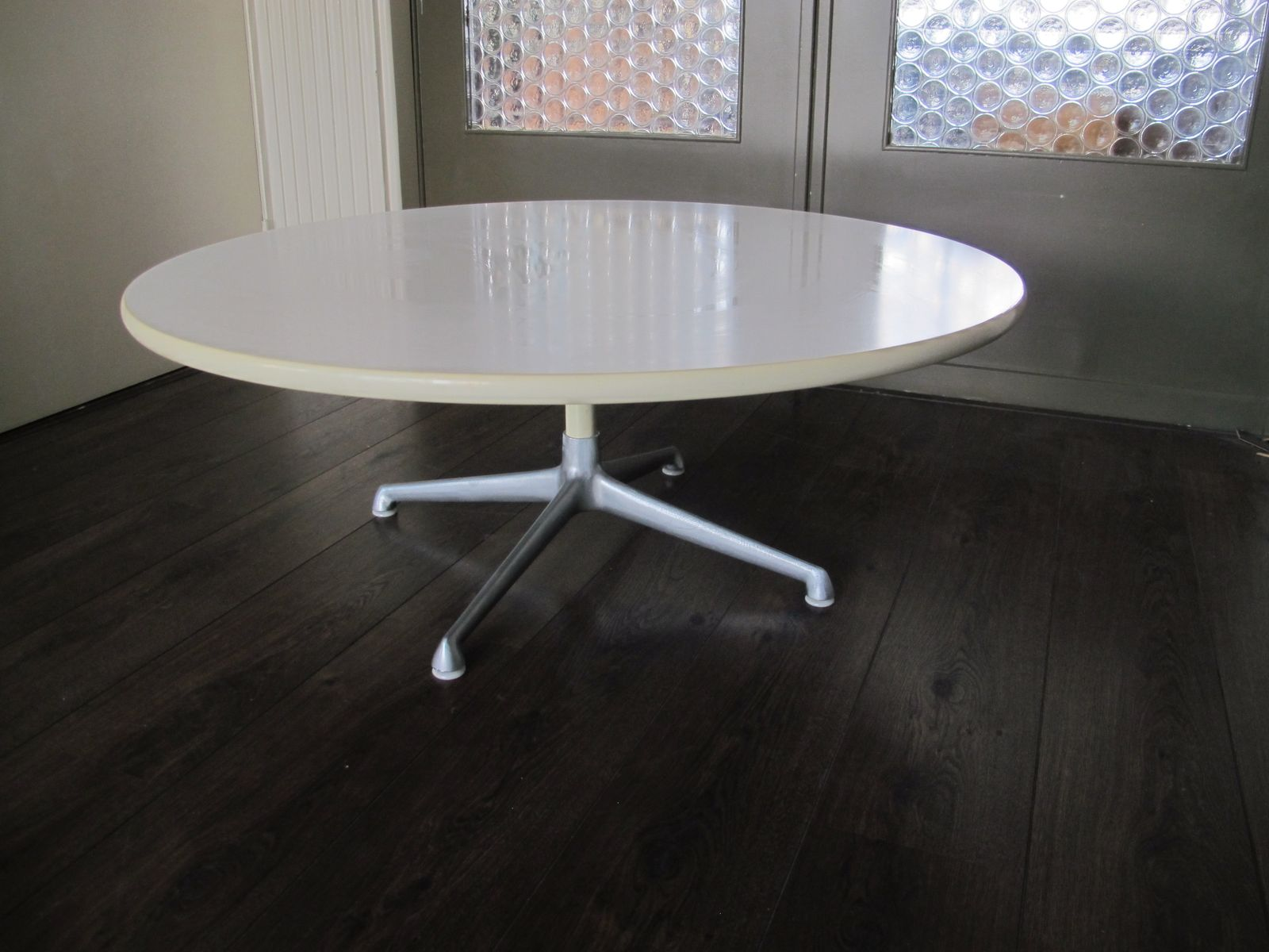 vintage circular coffee table by charles ray eames for herman