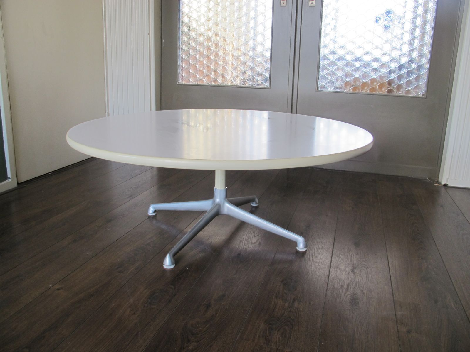 Vintage Circular Coffee Table by Charles & Ray Eames for Herman