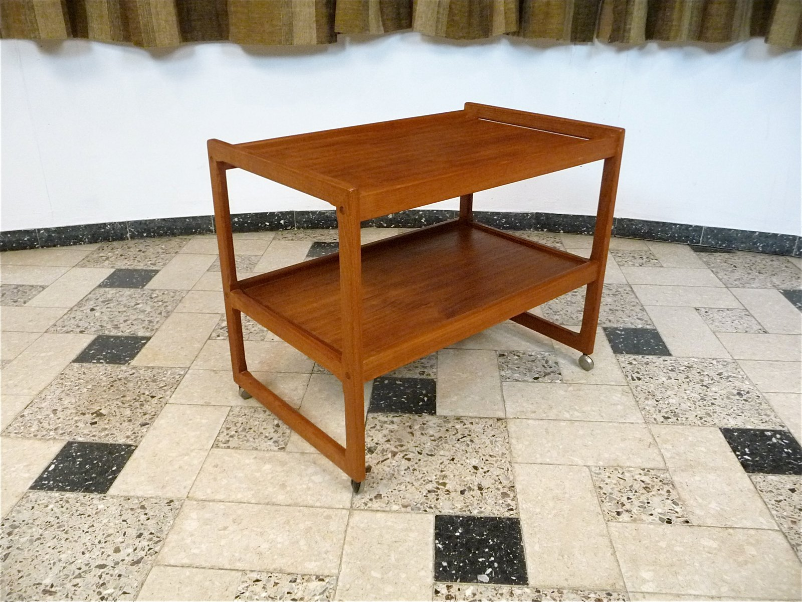 Danish Teak Tea Trolley 1960s for sale at Pamono