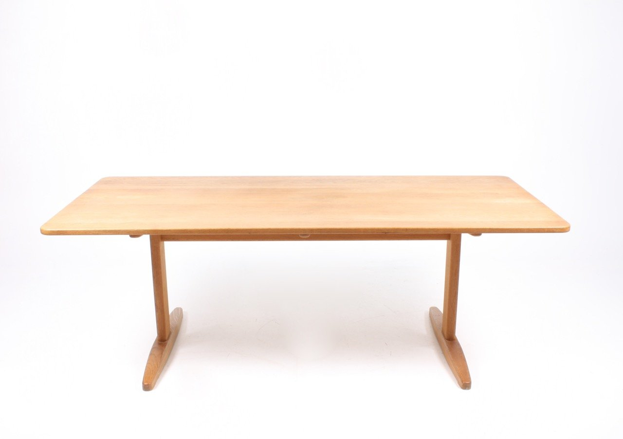 Solid Oak Dining Table By B Rge Mogensen For C M Madsen 1960s For Sale At Pamono