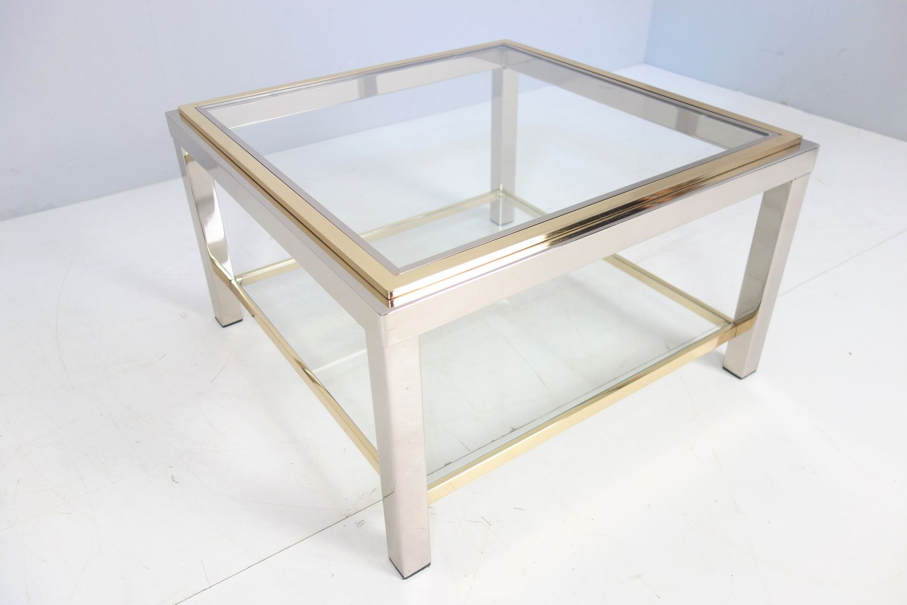 Vintage Flamina Glass Coffee Table By Willy Rizzo For Sale At Pamono