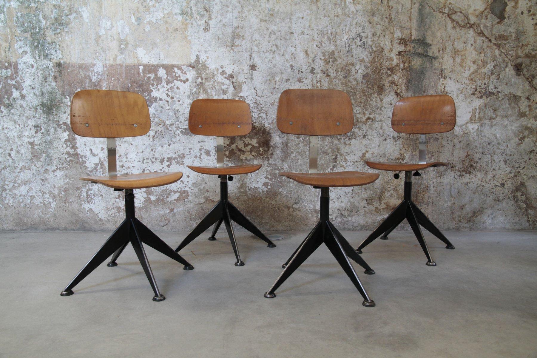 vintage holzst hle von velca legnano 4er set bei pamono kaufen. Black Bedroom Furniture Sets. Home Design Ideas