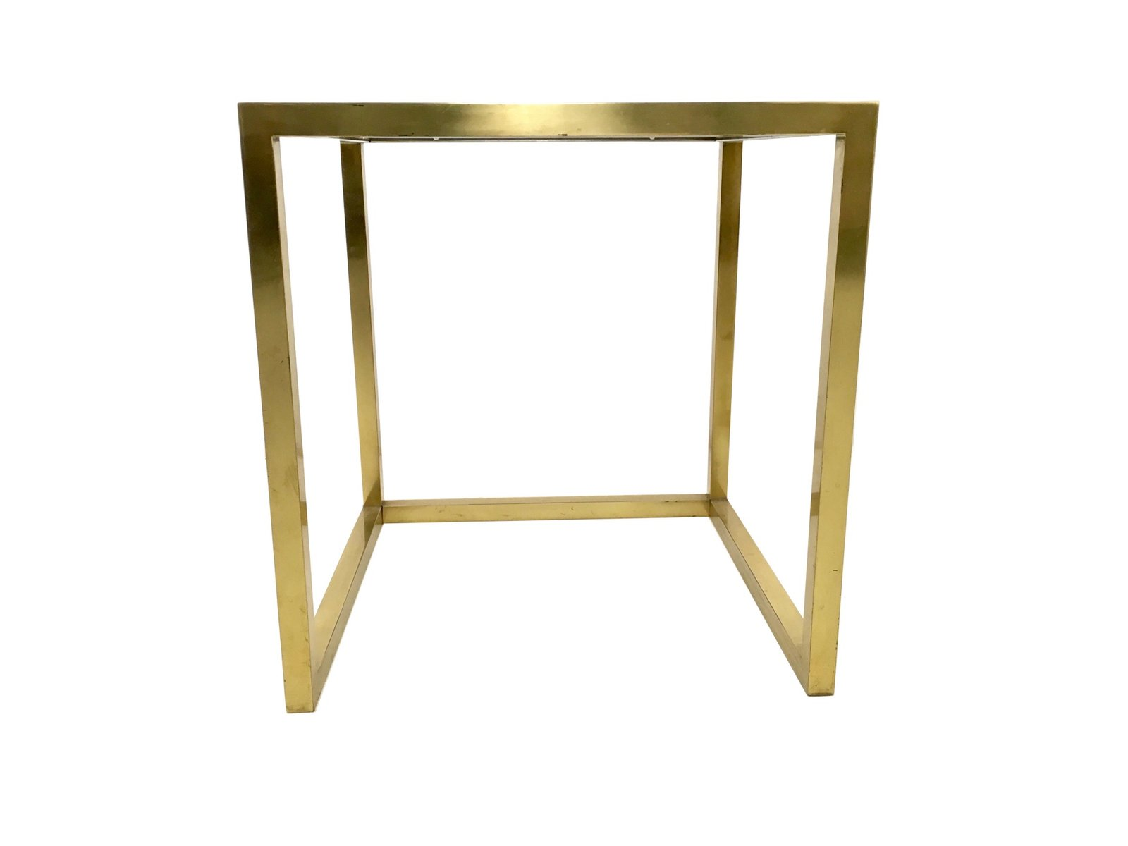 Italian Brass Steel And Glass Nesting Tables By Romeo
