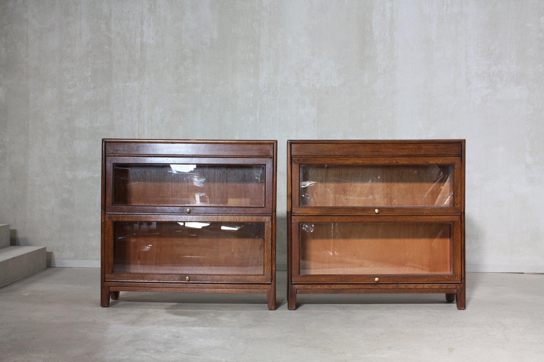 englische vintage b cherregale 1930er 2er set bei pamono kaufen. Black Bedroom Furniture Sets. Home Design Ideas