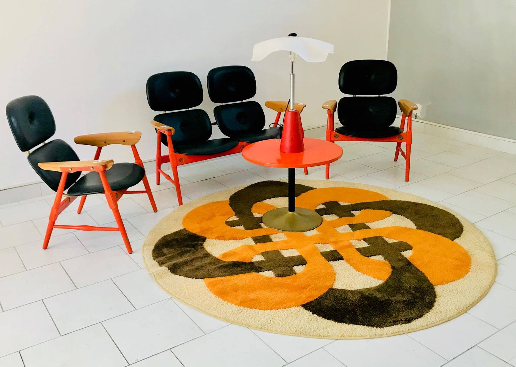 Seating Group with a Coffee Table from Poltronova 1970s for sale