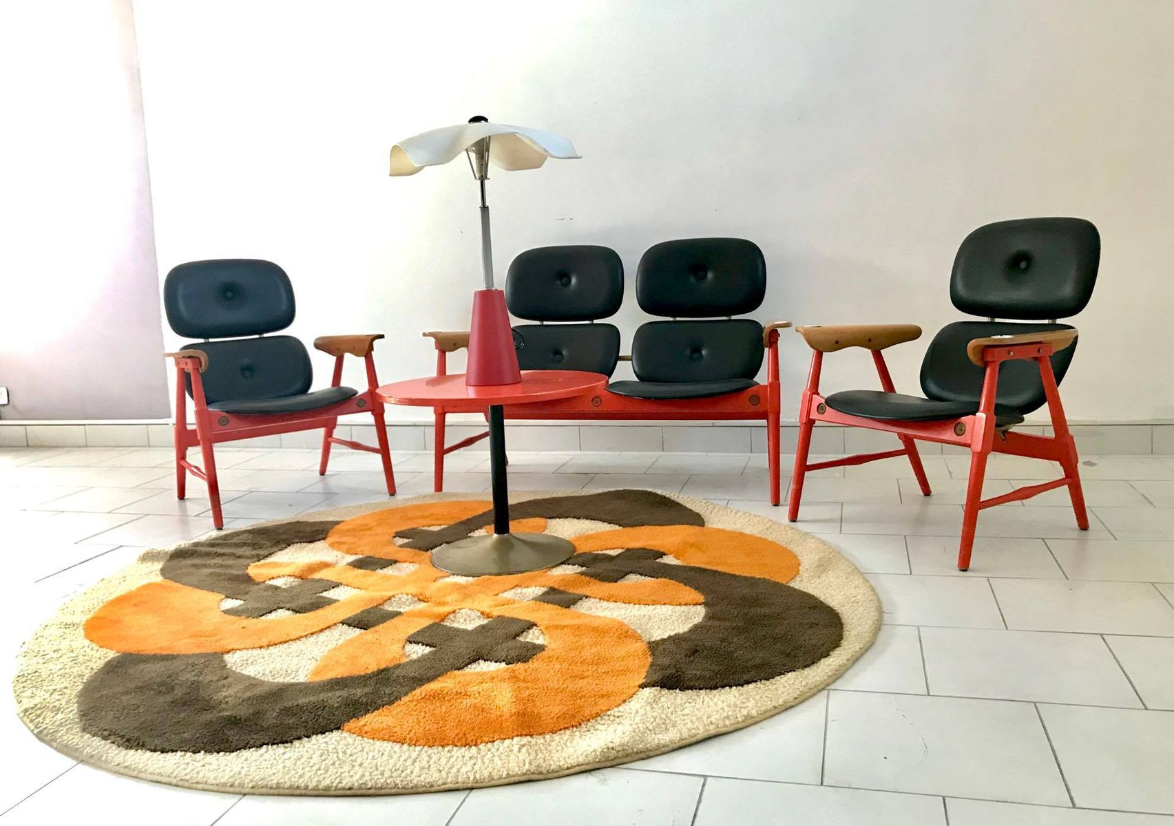 Seating group with a coffee table from poltronova 1970s for sale price per set geotapseo Gallery