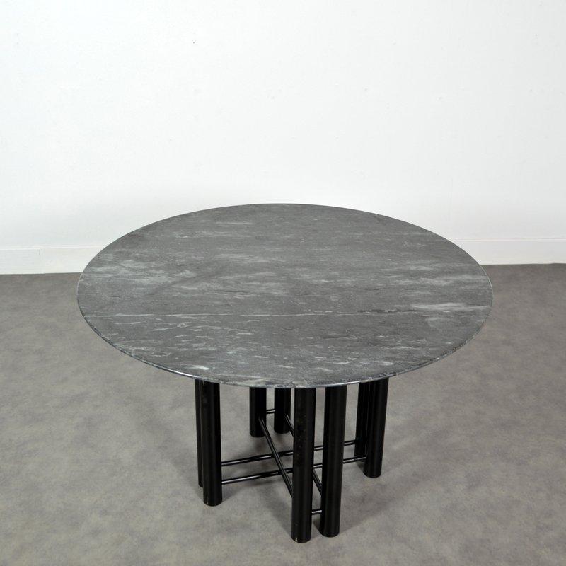 Esstisch aus marmor metall 1980er bei pamono kaufen for Esstisch aus marmor