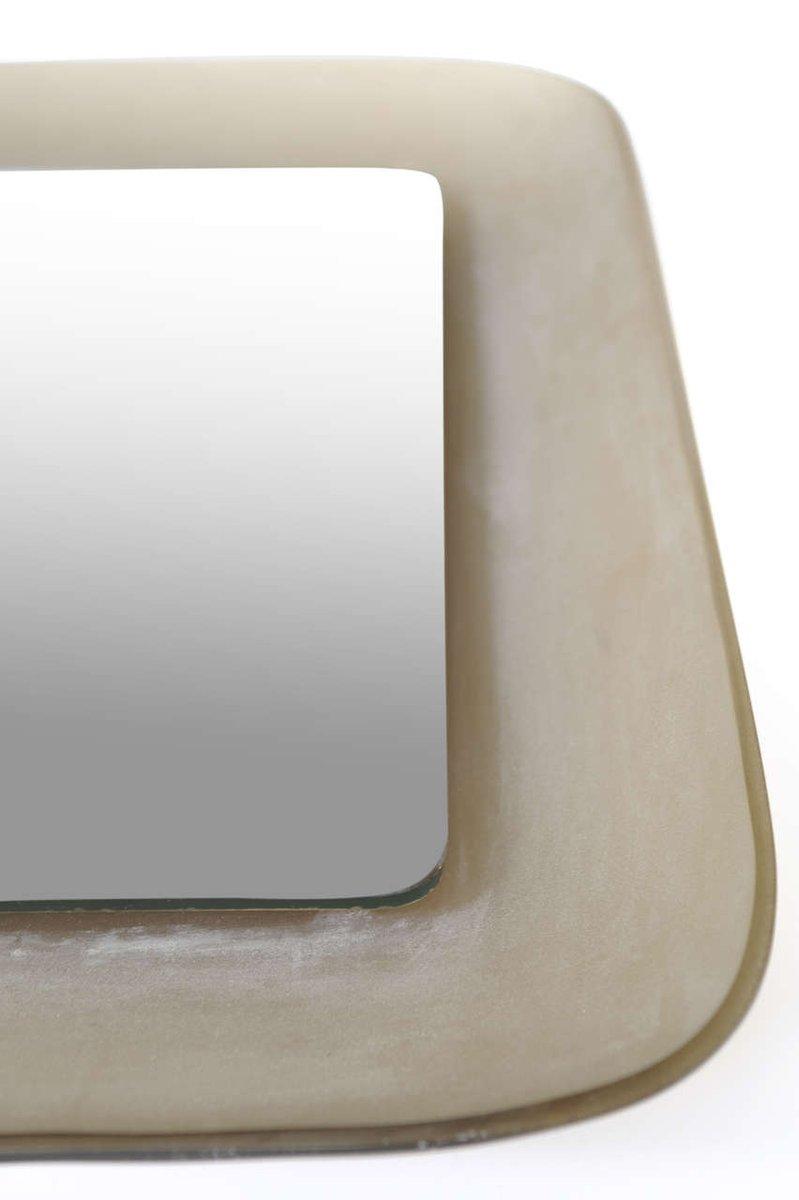 quadratischer vintage spiegel bei pamono kaufen. Black Bedroom Furniture Sets. Home Design Ideas